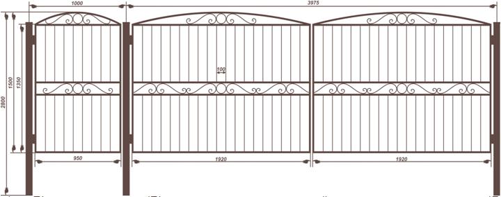 Сварные ворота с калиткой комплект типы металлических заборов